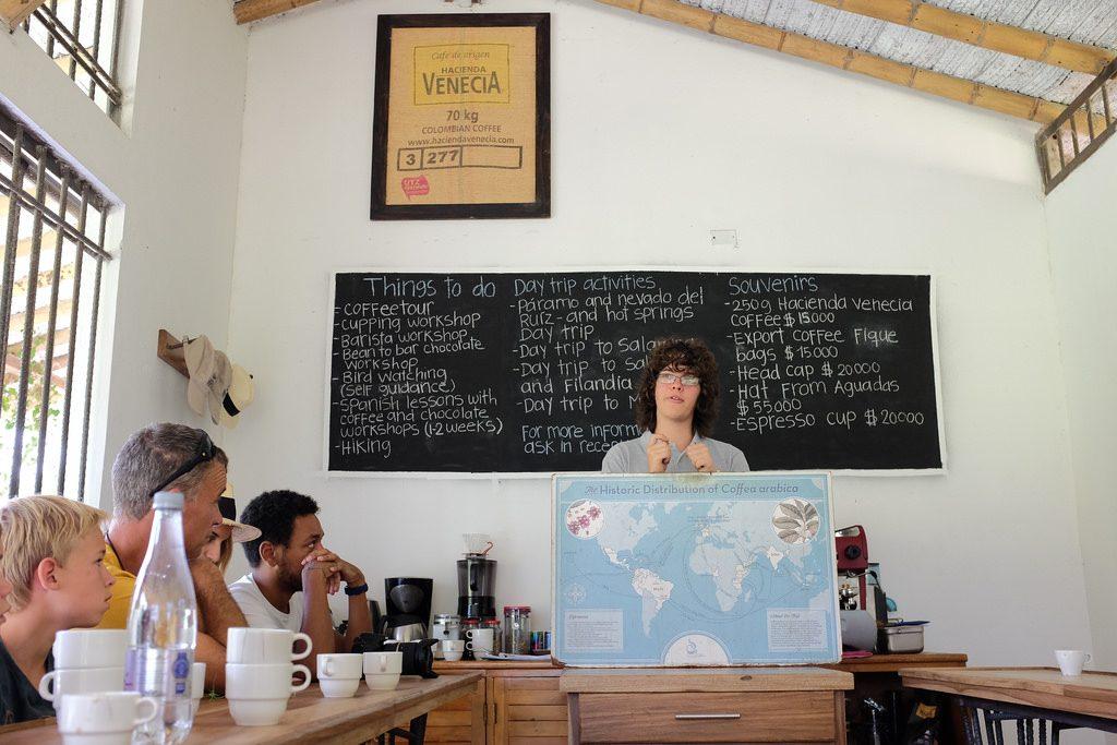 Koffietour David Hacienda Venezia Colombia