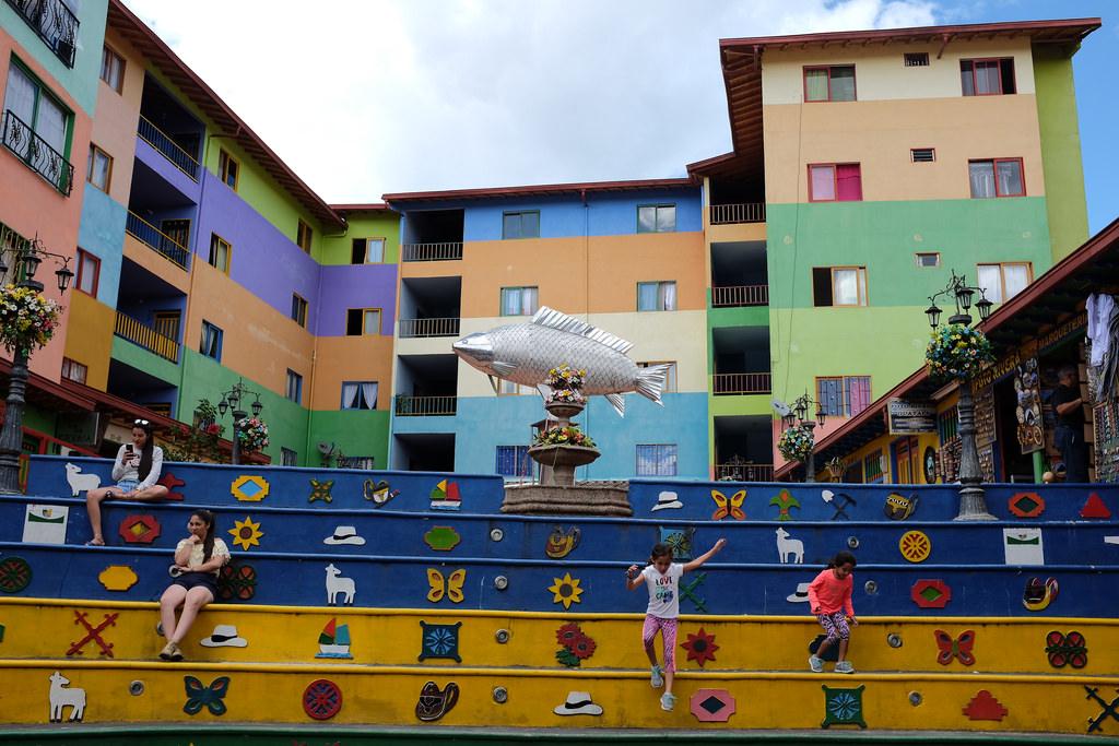 Plaza Guatape Colombia