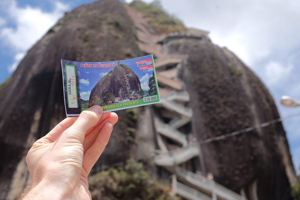Toegangskaartje Piedra del Penol Guatape Colombia