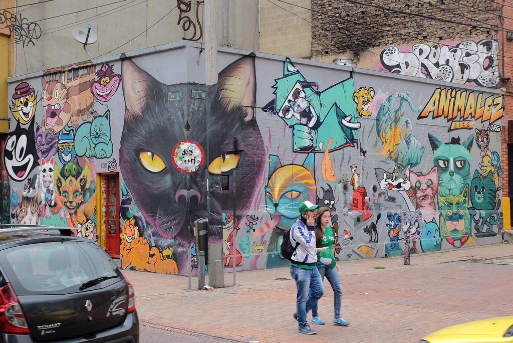Bogota graffiti tour - Katten