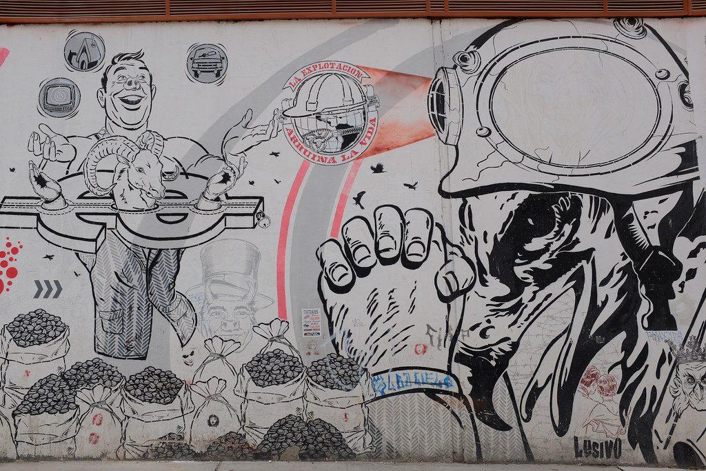 Bogota graffiti tour - Uitbuiting