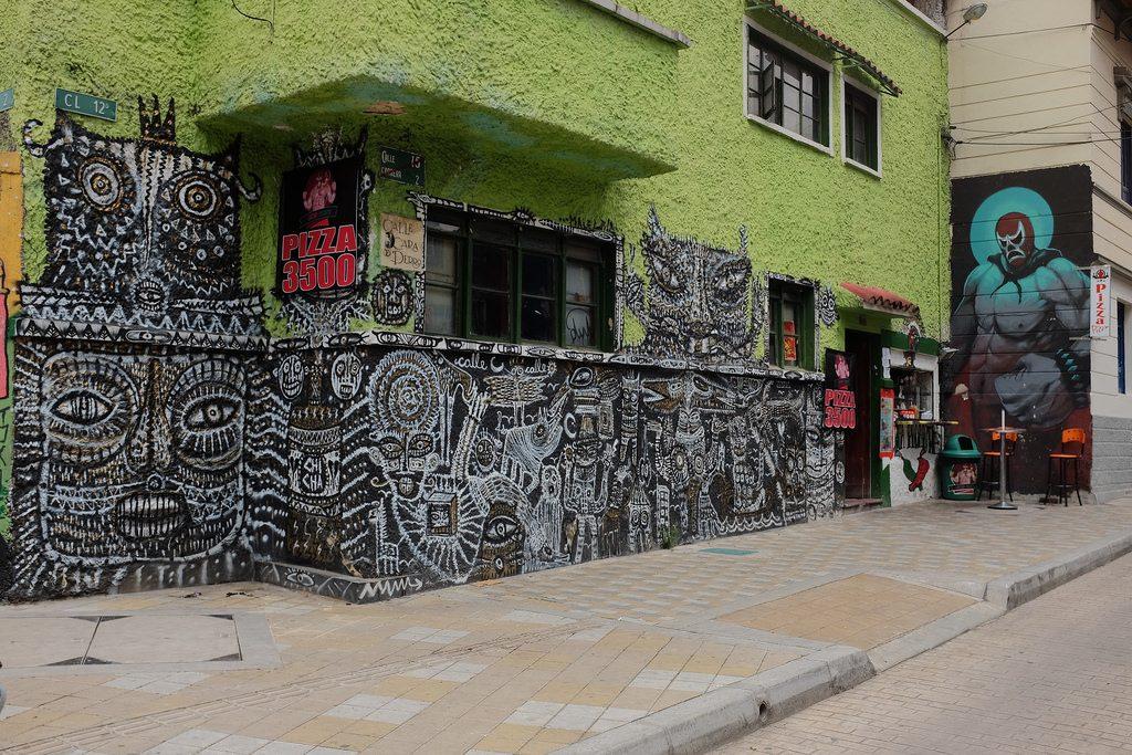 Bogota graffiti tour - Zwartwit