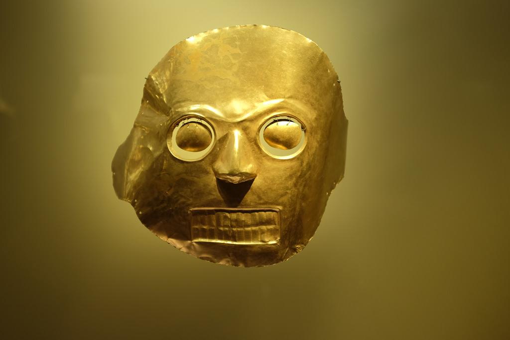 Masker goudmuseum Museo del Oro Bogota
