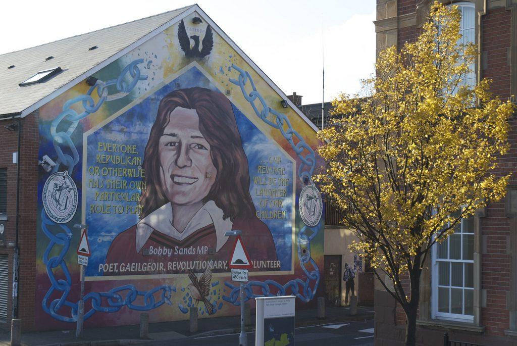 Bobby Sands mural muurschildering in Belfast