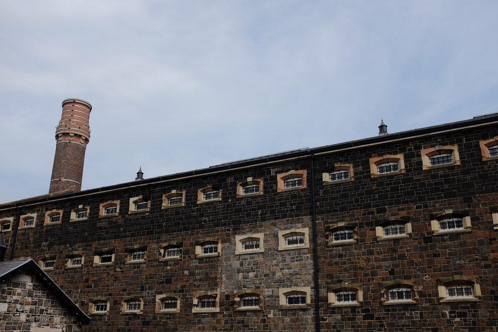 Buitenkant Crumlin Road Gaol gevangenis Belfast