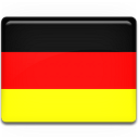 Duitsland reizen over de wereld bestemming vlag