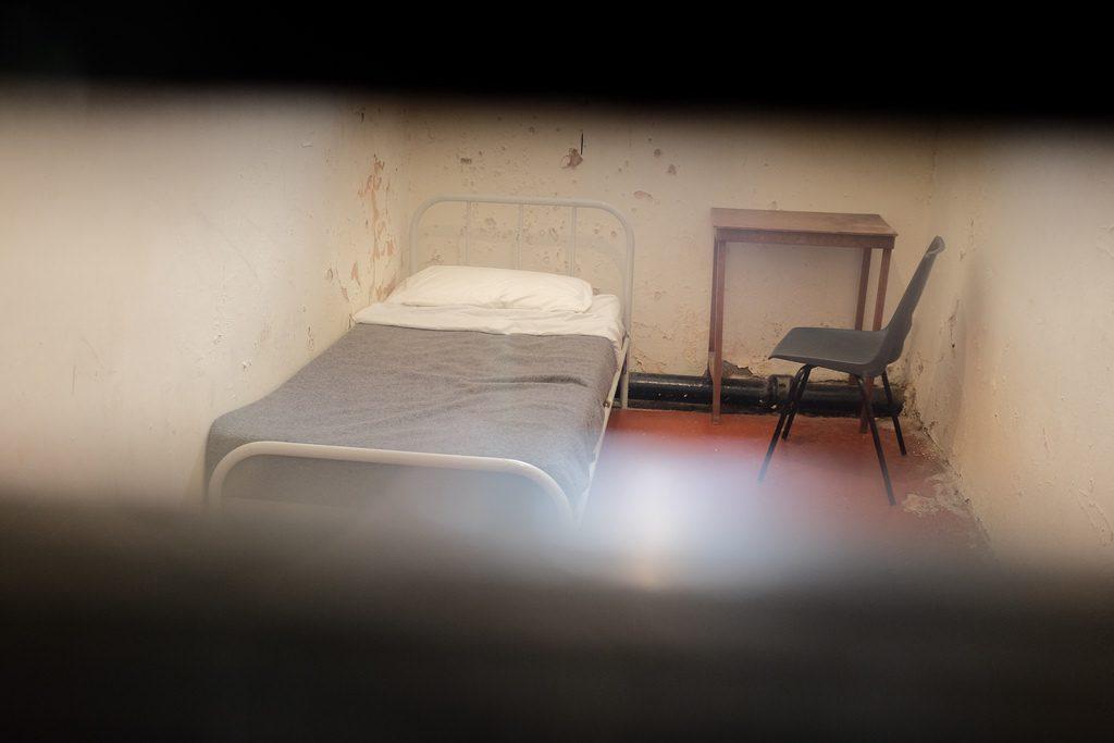 Een cel van de gevangenis