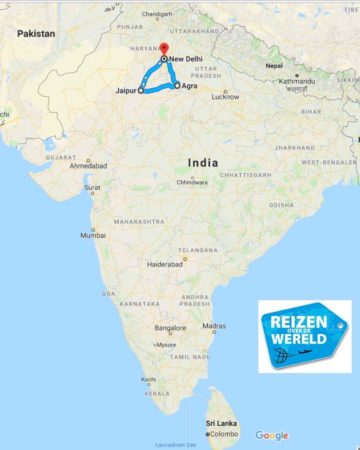Gouden driehoek reisroute India week