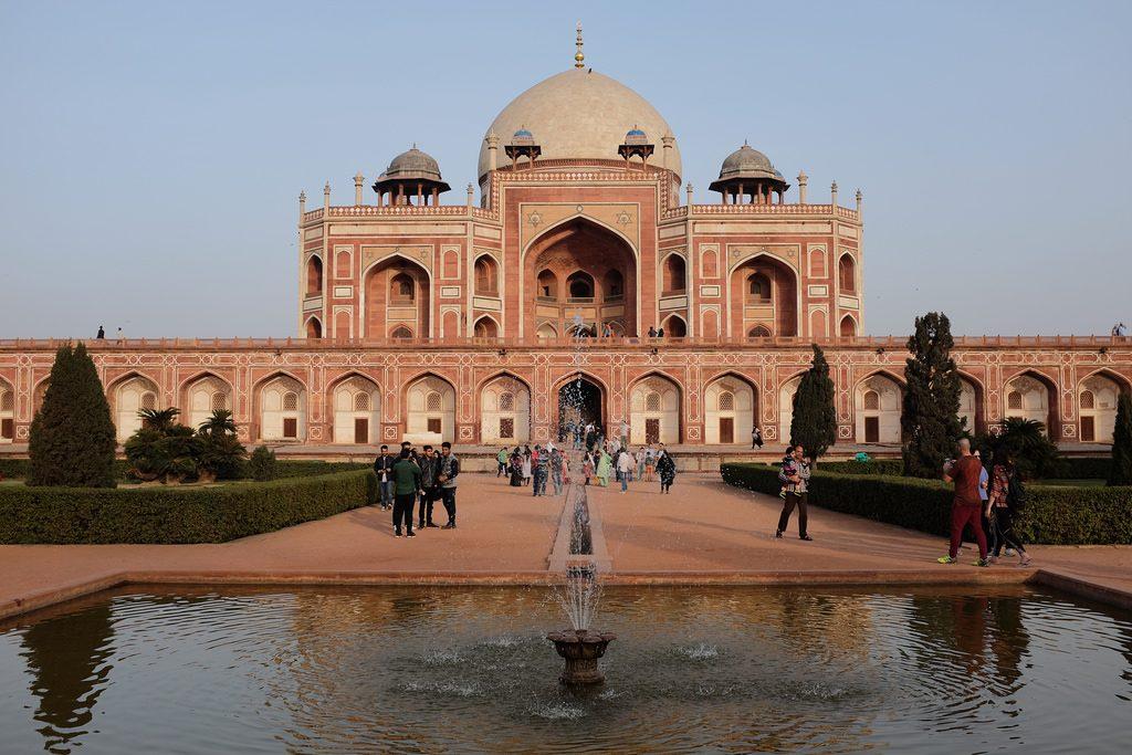 Humayun's Tombe inspiratie voor de Taj Mahal