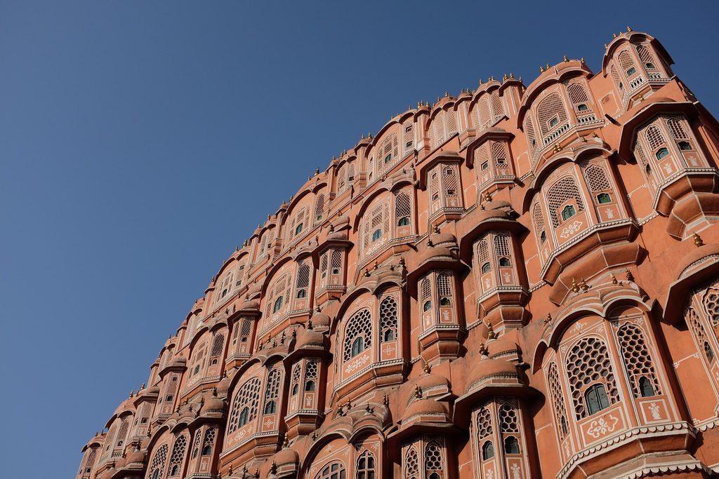 Jaipur Hawa Mahal voor een week naar India op reis week reis