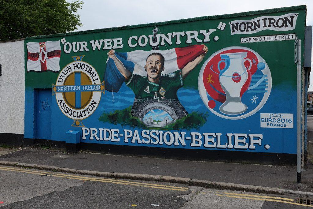 Muurschildering GAWA Noord-Ierland