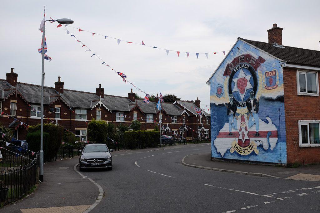 Muurschildering woonwijk Belfast