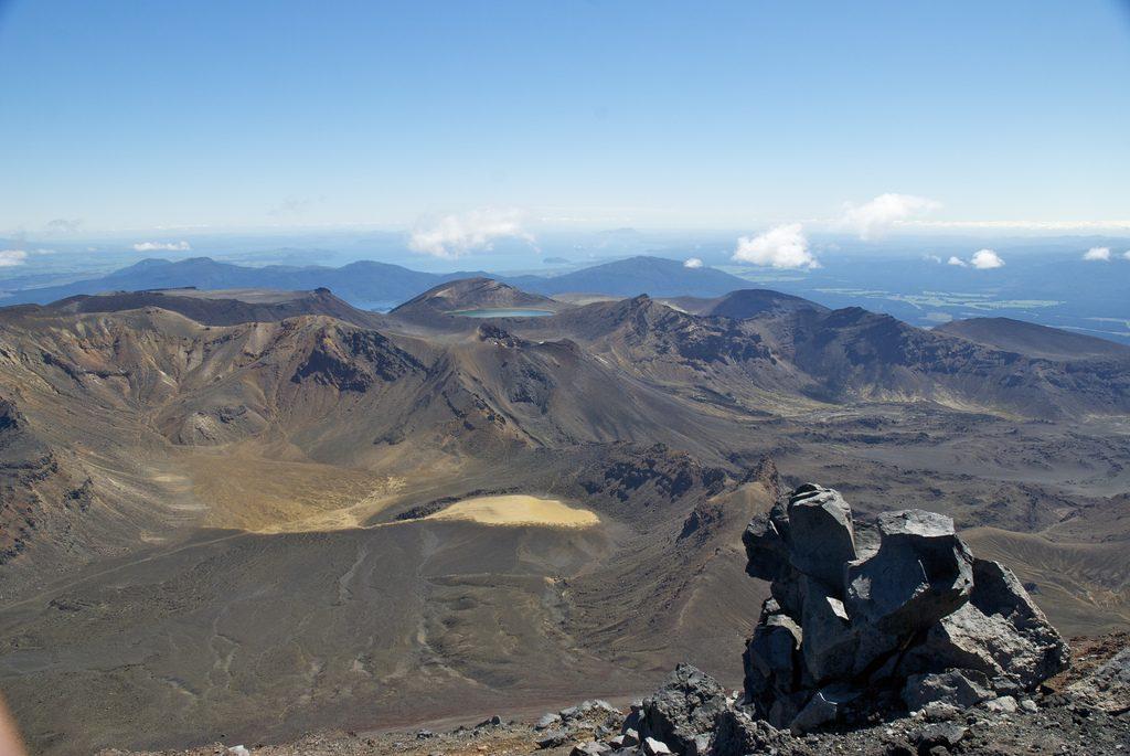 Uitzicht vanaf Mount Doom Tongariro Crossing Nieuw-Zeeland