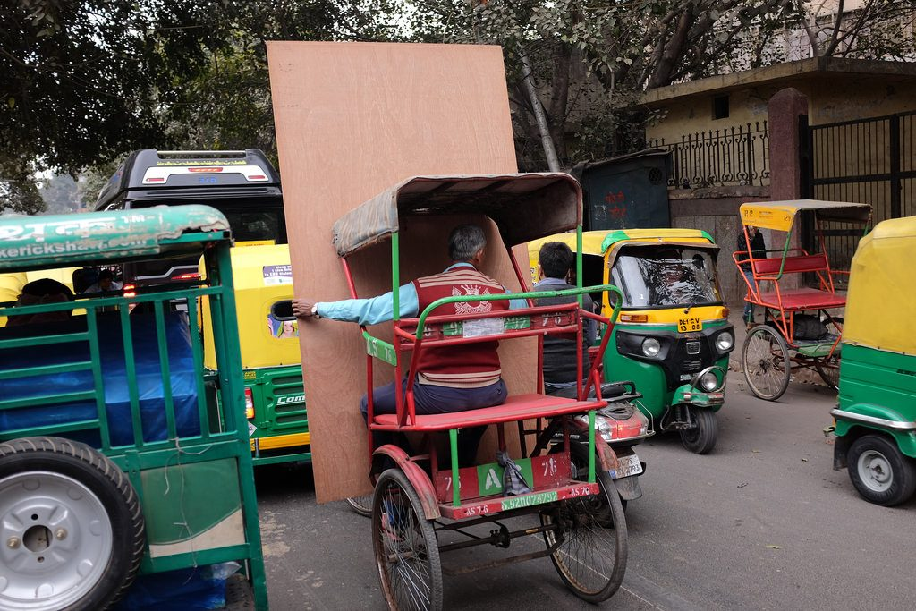 Verkeer in New Delhi India
