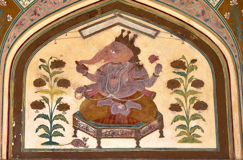 Amber fort muurschildering