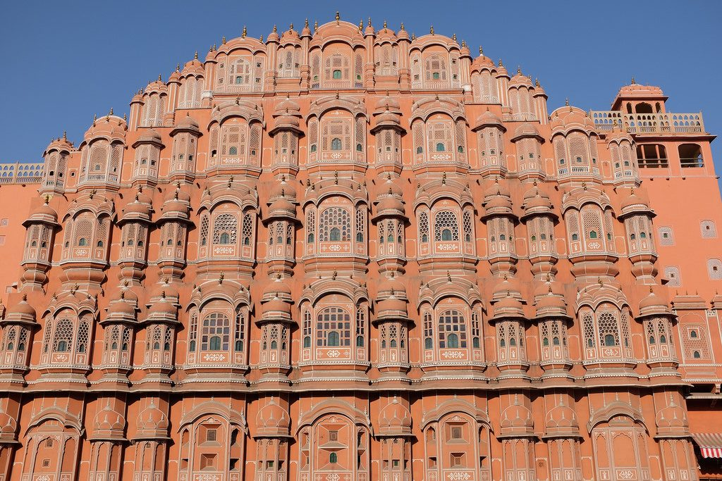 Jaipur Palace of the Winds windpaleis Noord-India