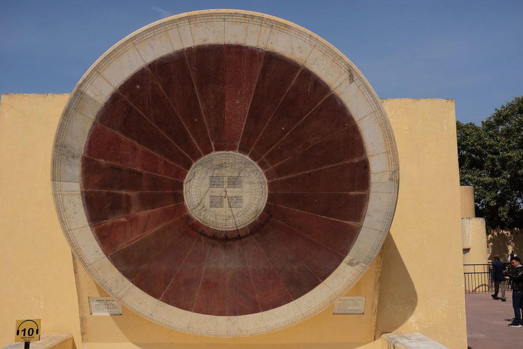 Jantar Mantar observatorium klok Jaipur Narivalaya Yantra