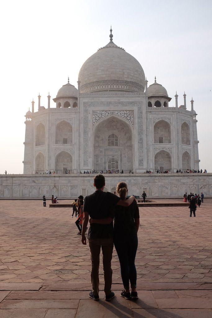Reizen over de Wereld voor de Taj Mahal Noord-India bezienswaardigheden