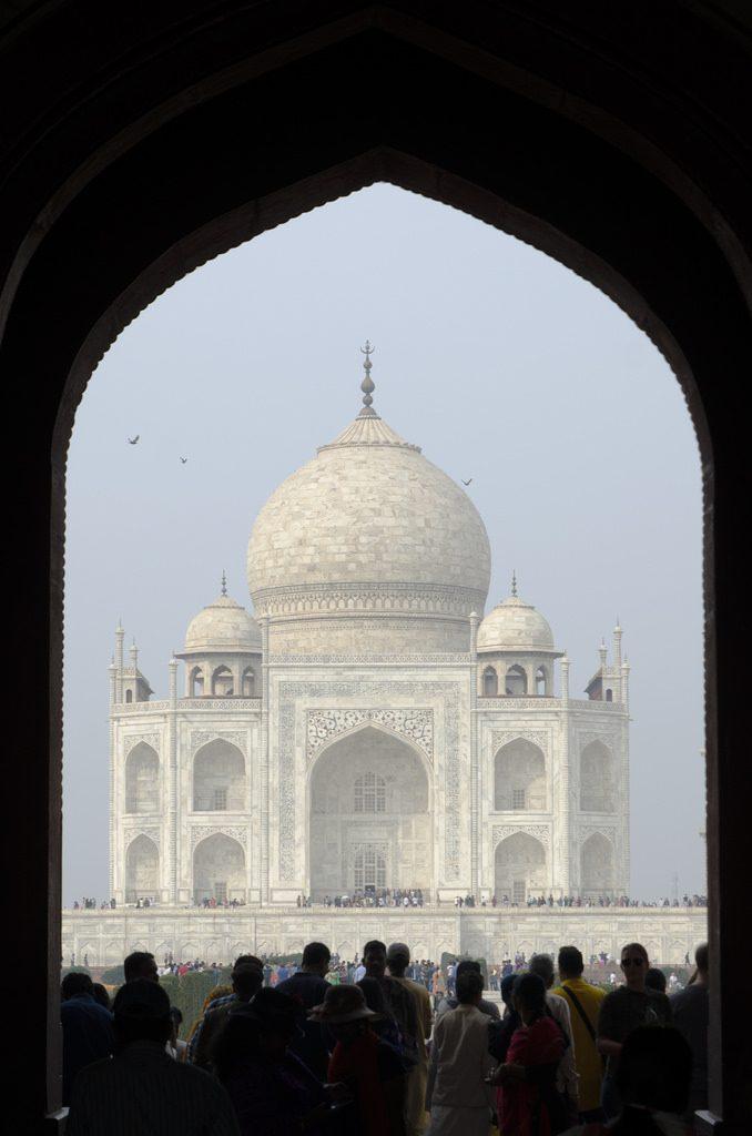 Taj Mahal vanaf Taj Ganj