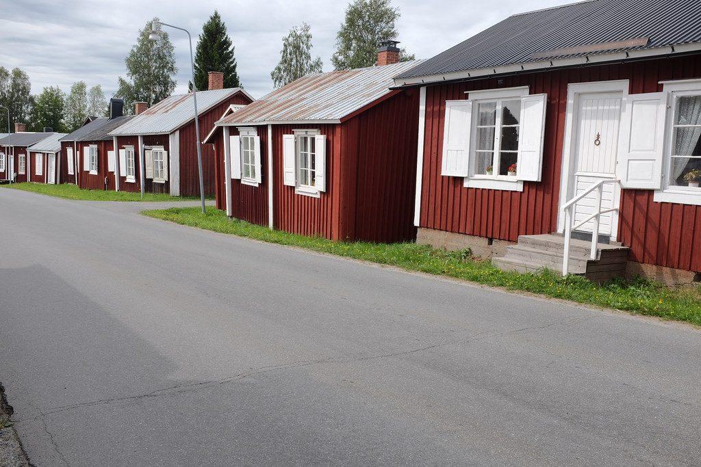 Gammelstad rode huisjes