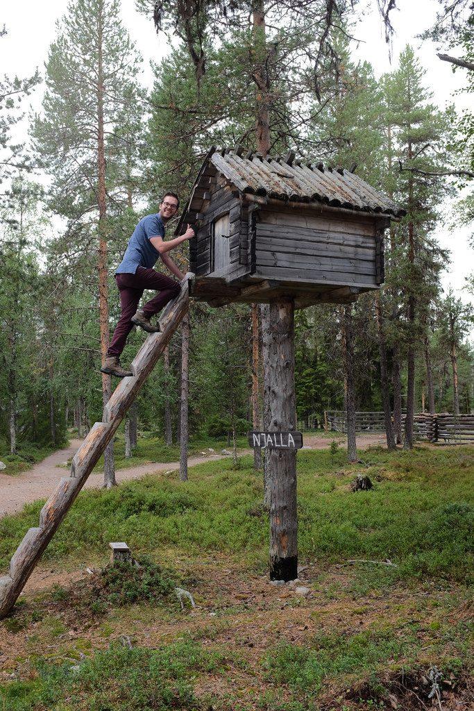 Hut Batsuoj Sami Center Zweeds Lapland zomer