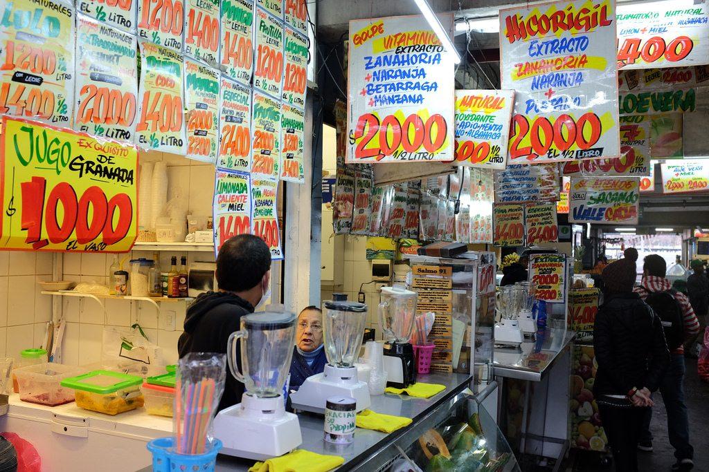 Jugo naturales Santiago de Chile markt