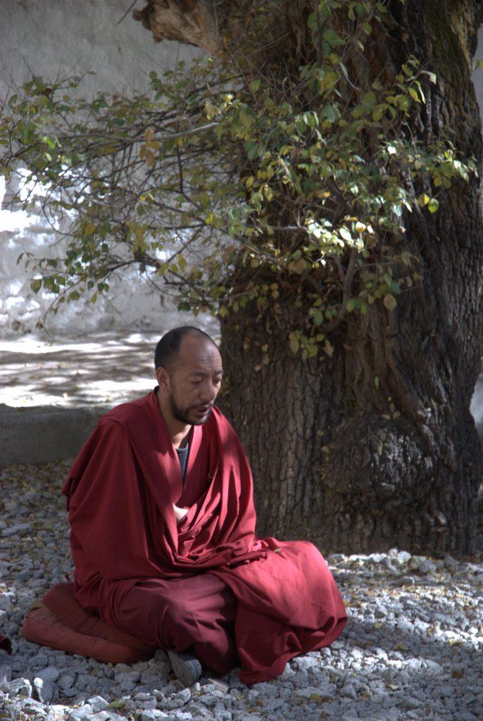 Monnik Jokhangtempel Tibet
