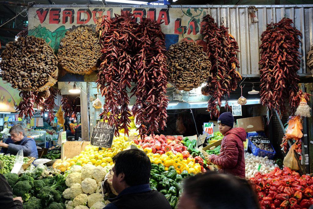 Santiago de Chile markt chilipepers