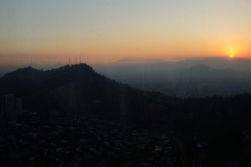 Sky Costanera zonsondergang