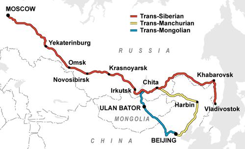 Transsiberië Express reisverslag kaart