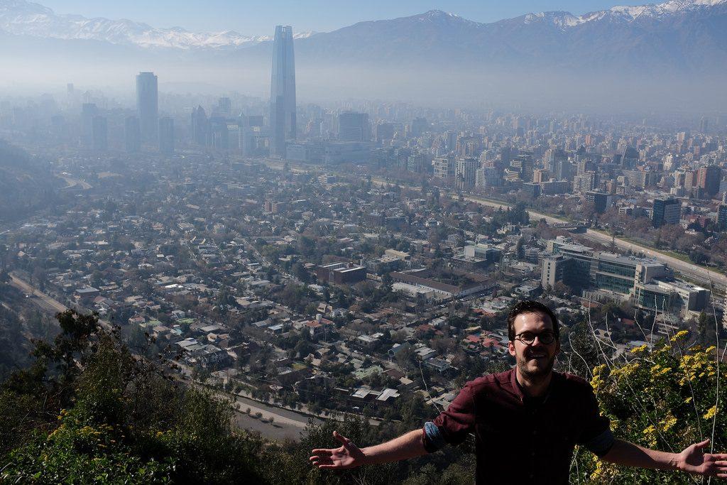 Uitzicht op weg naar religieuze berg San Cristóbal