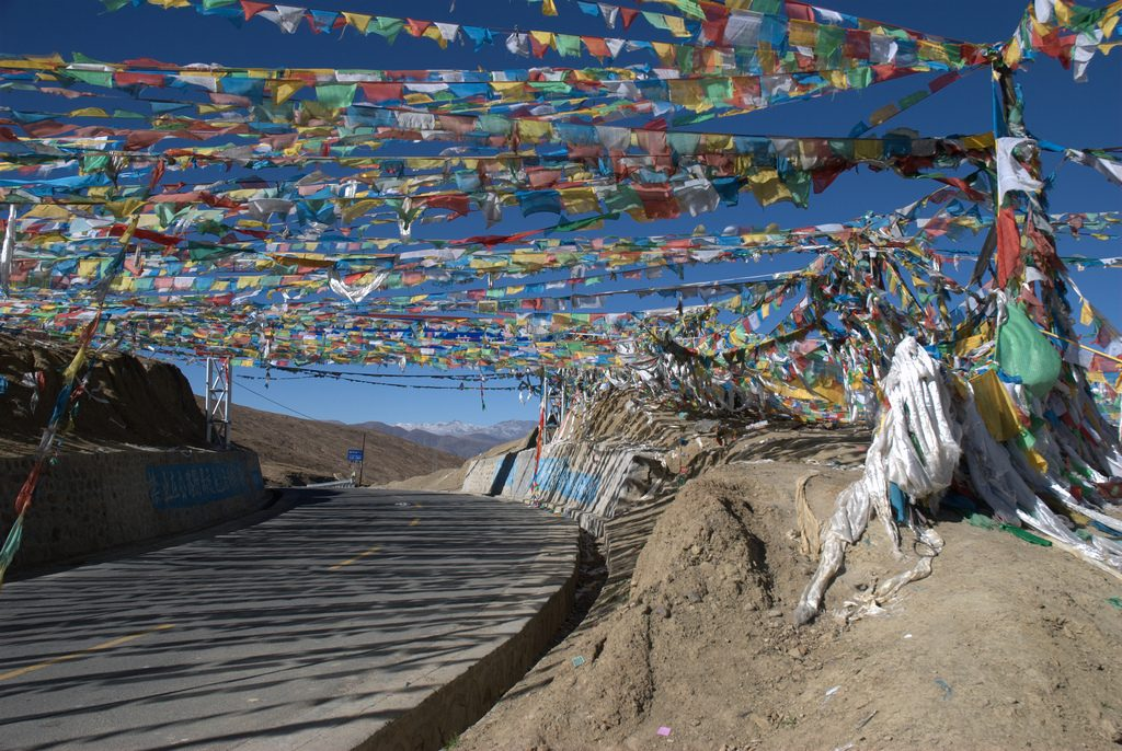Vlaggetjes uit Tibet