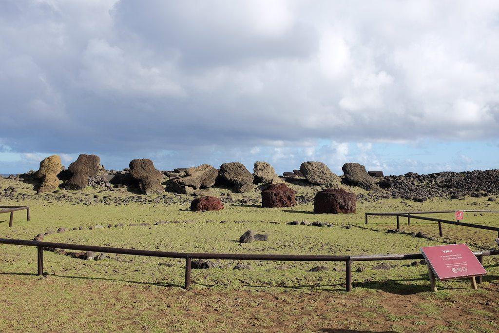 Vaihu omgevallen paasbeelden Moai