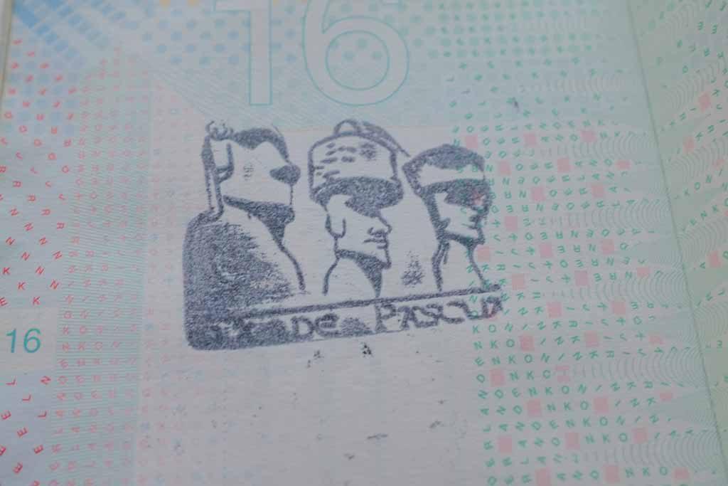 paspoortstempel paaseiland halen postkantoor