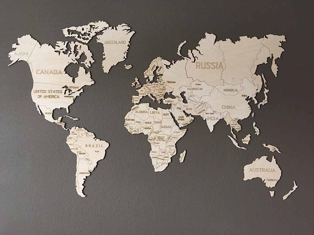 wereldkaart op hout eindresultaat coolgift