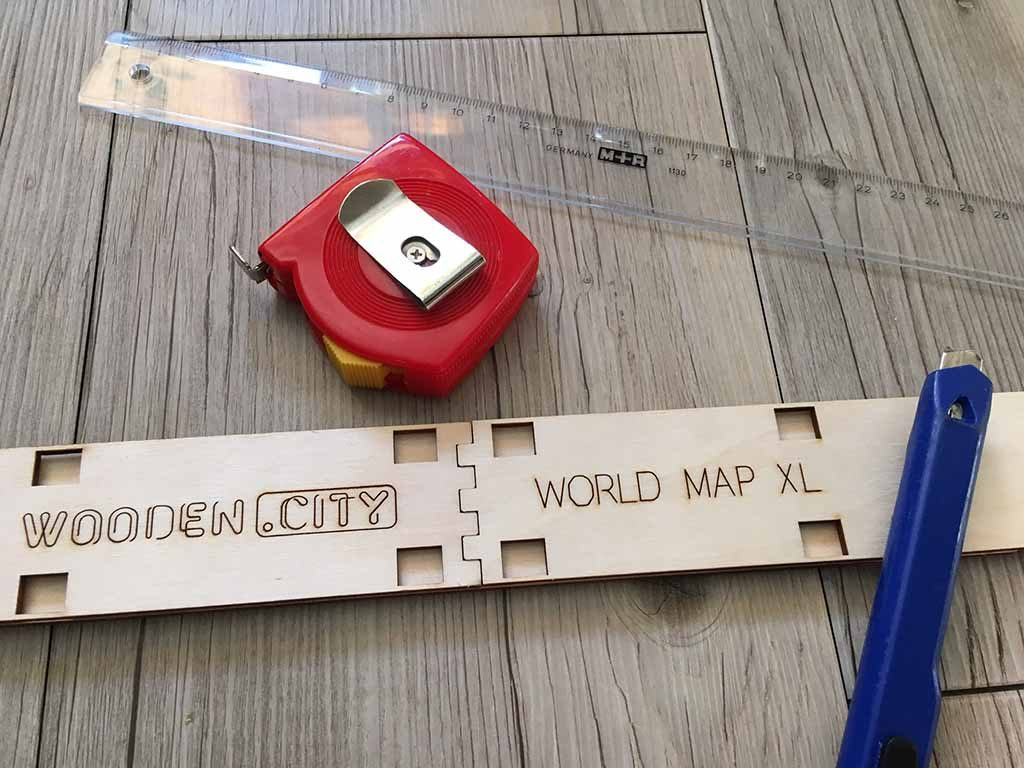wereldkaart op hout howto