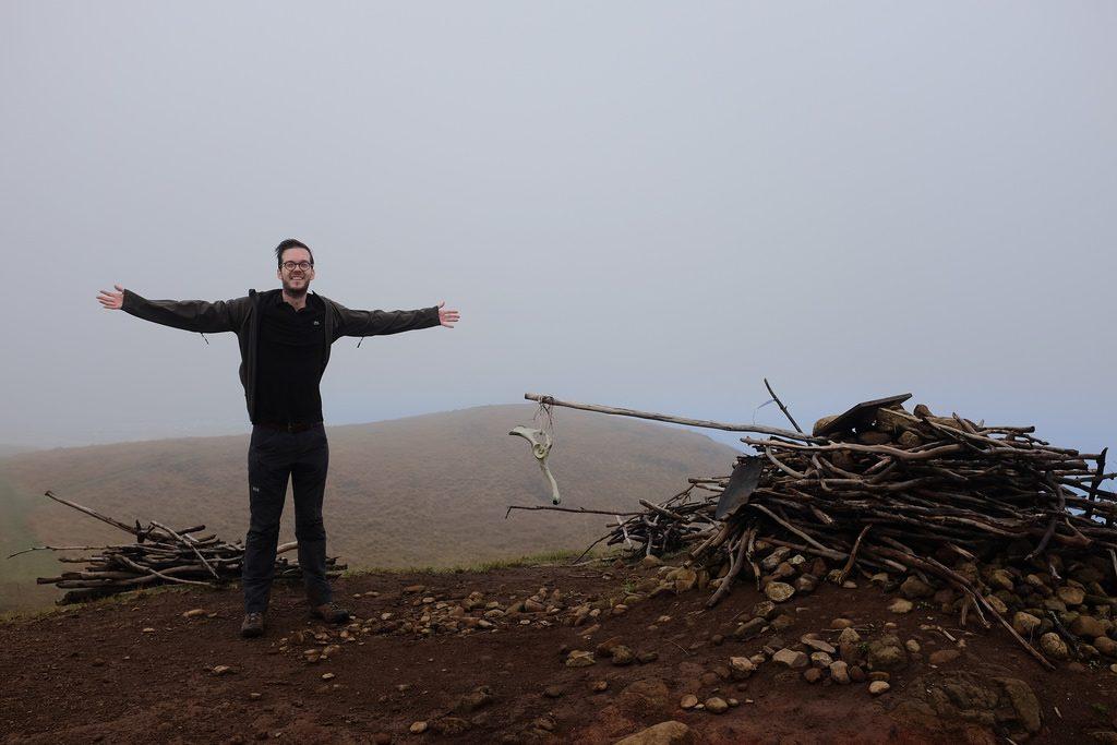 Maunga Terevaka hoogste punt van Paaseiland