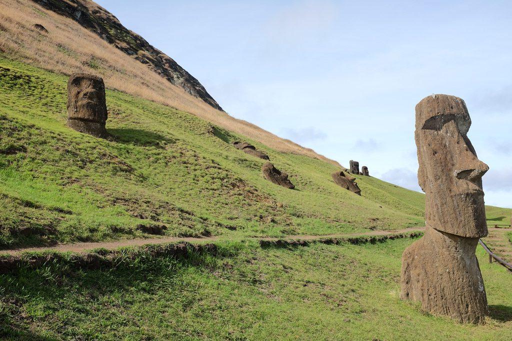 Piro Piro Moai Paaseiland Rano Raruku