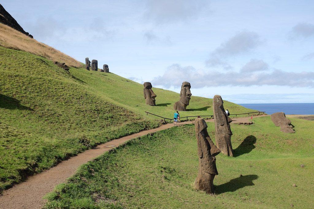 Rano Raruku Paaseiland bezoeken