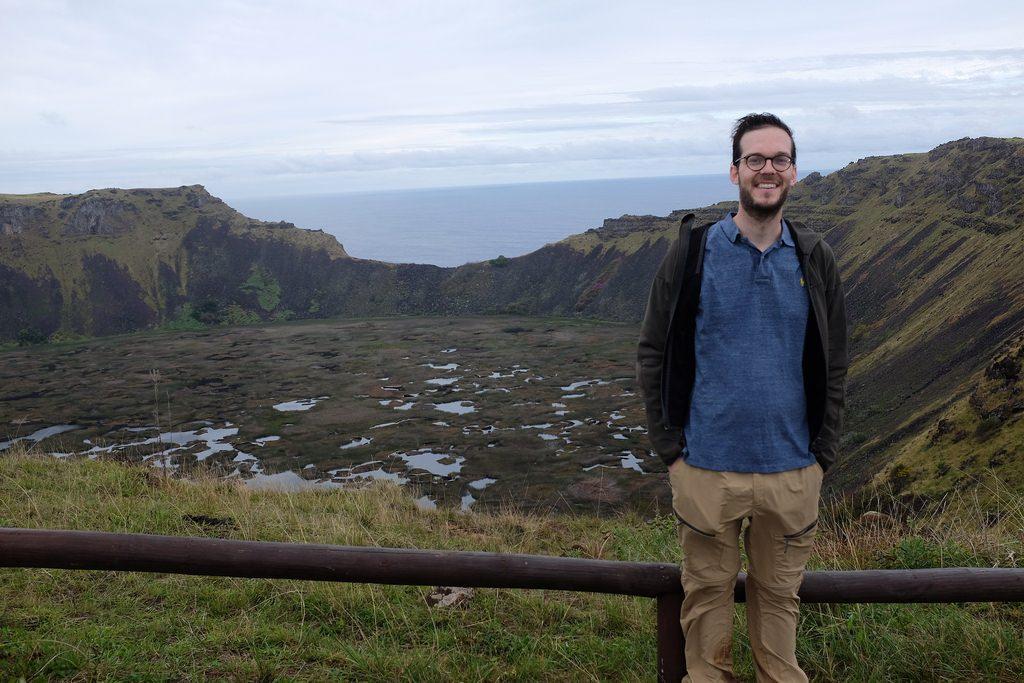 Reizen over de Wereld voor Orongo krater