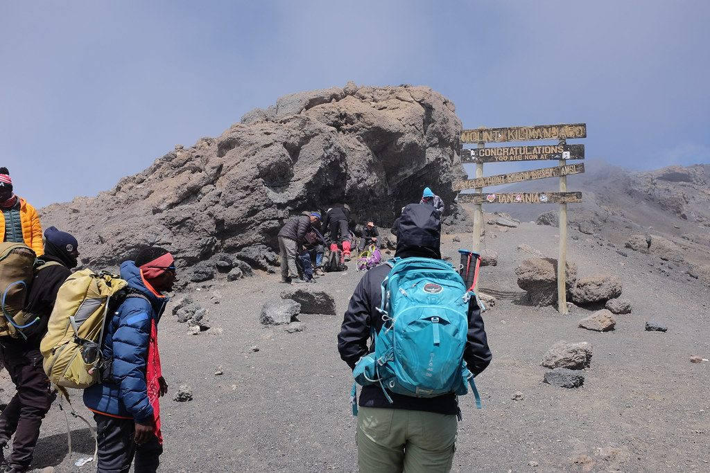 Aankomst op Stella Point (Beklimming Kilimanjaro)