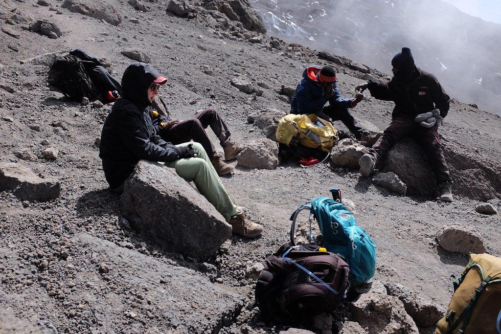 Blijven eten en drinken tijdens de beklimming