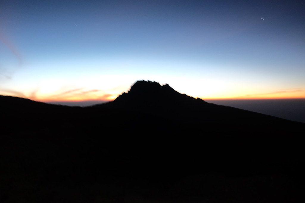 Nachtwandeling beklimming Kilimanjaro