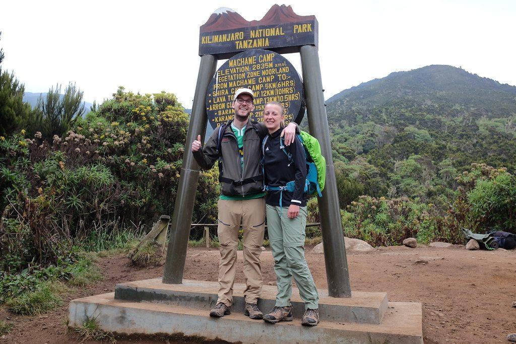 Reizen over de wereld bij Machame Camp Kilimanjaro