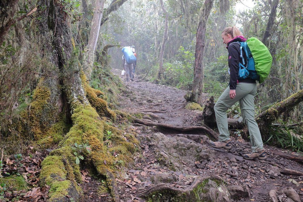 Suus op dag 1 van de beklimming van de Kilimanjaro