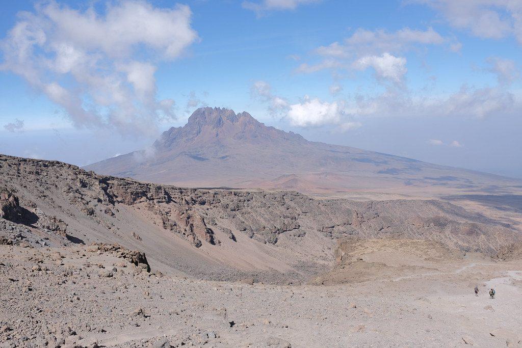 Uitzicht beklimming Kilimanjaro