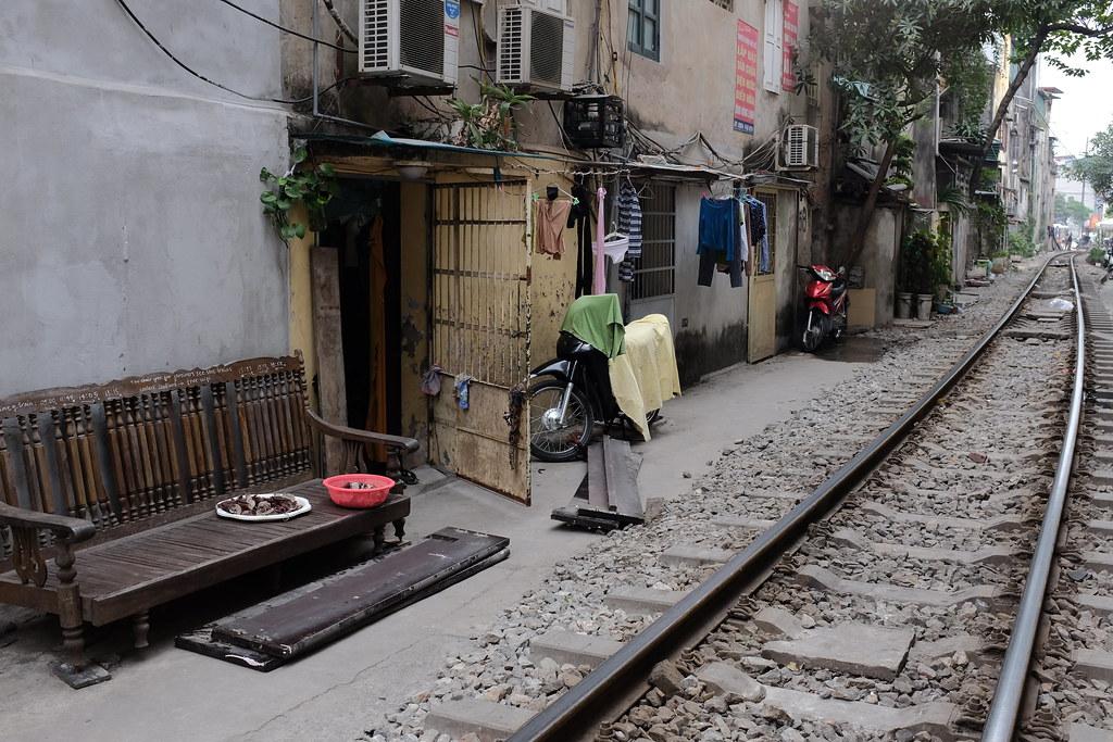 Treinstraat Vietnam Hanoi: Leven langs het spoor