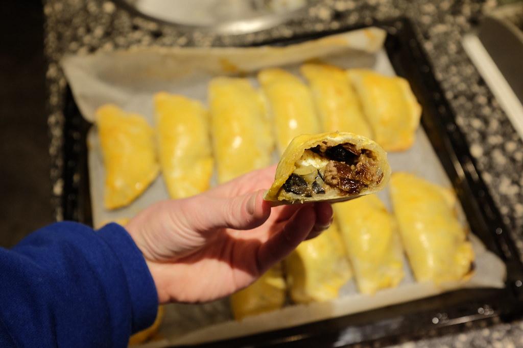 Zelf empanada maken Chili: Eindresultaat