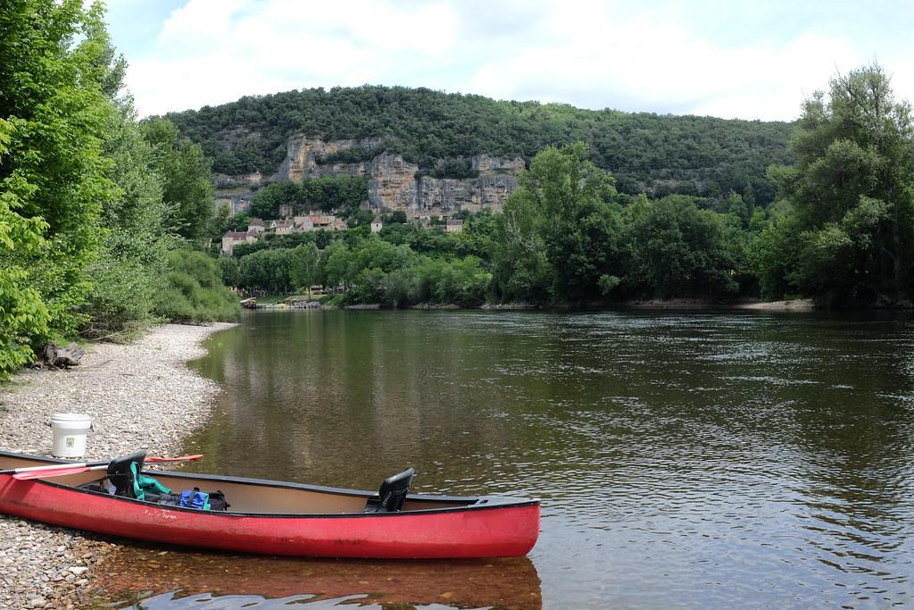 Uitrusten met de kano